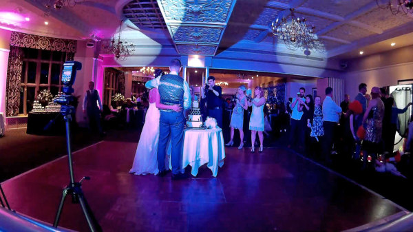Gopro view from the booth at  Selsdon Park Hotel Wedding