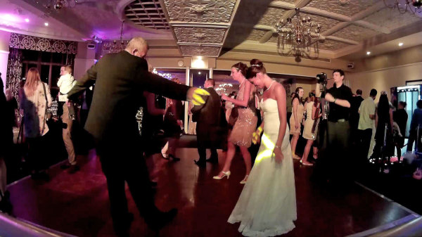 Father of the Bride gets into his groove