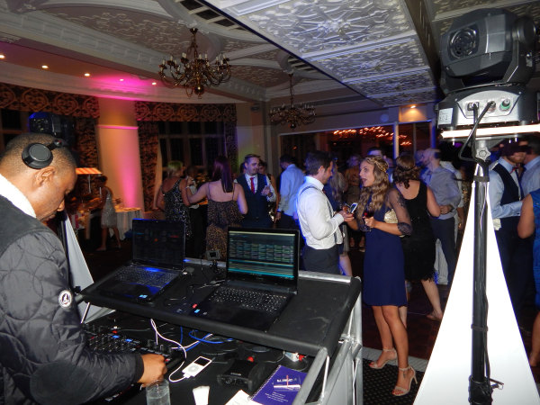 DJ Pied Piper entertaining the Wedding Reception