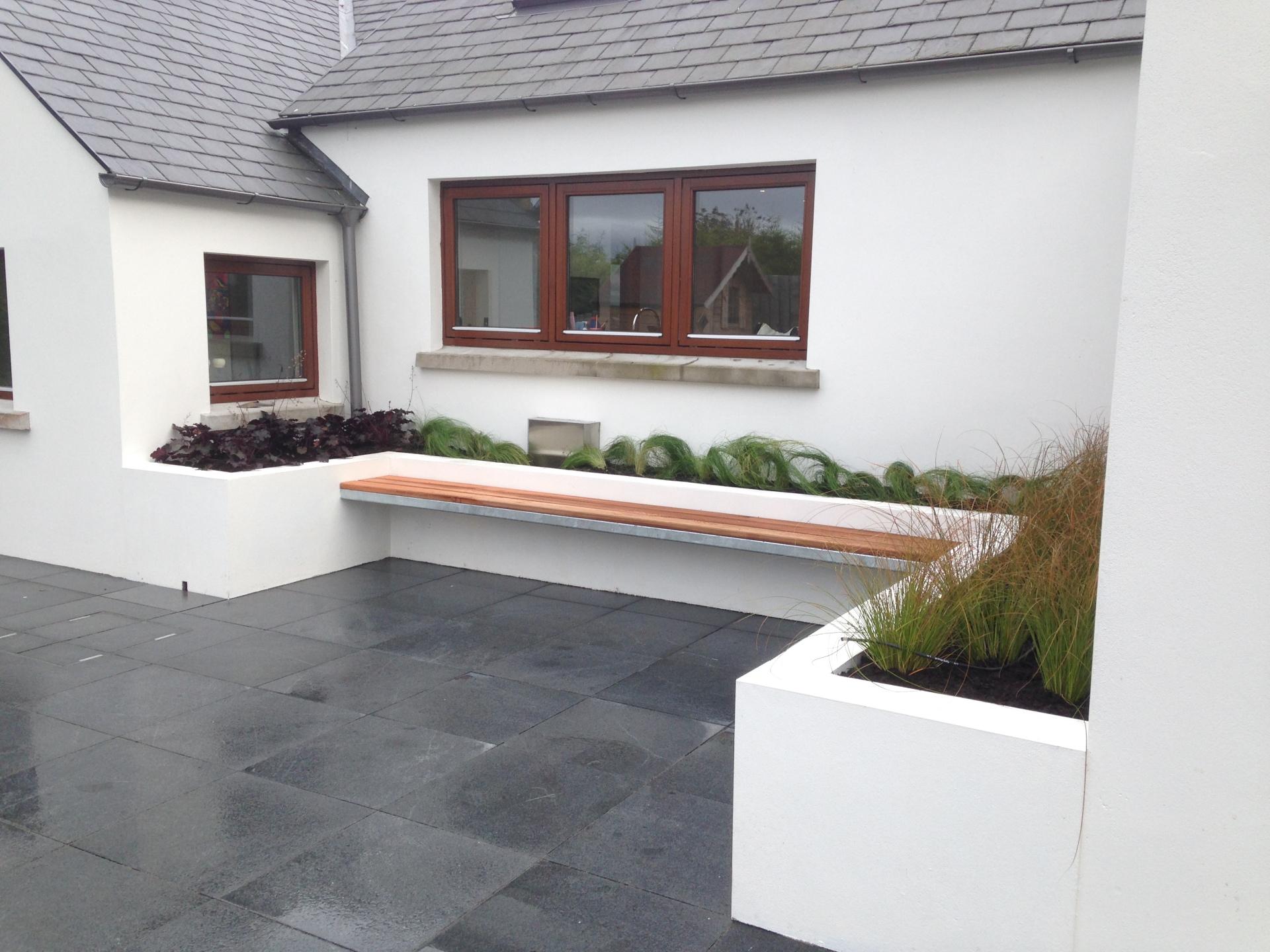 Large modern family garden