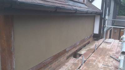 external render in sand and cement