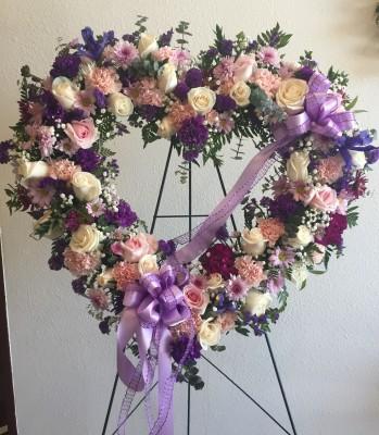 White lavender heart