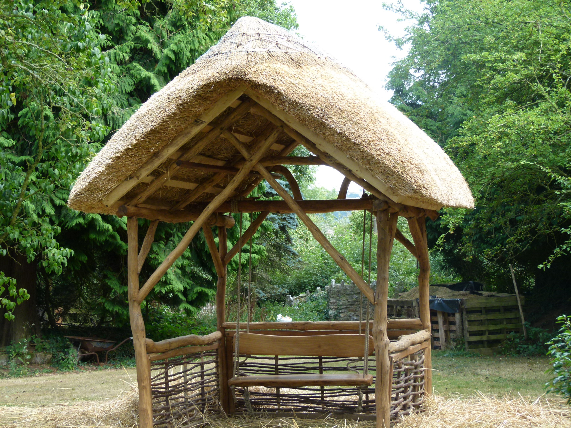 Timber Thatched Gazebo, Somerset.