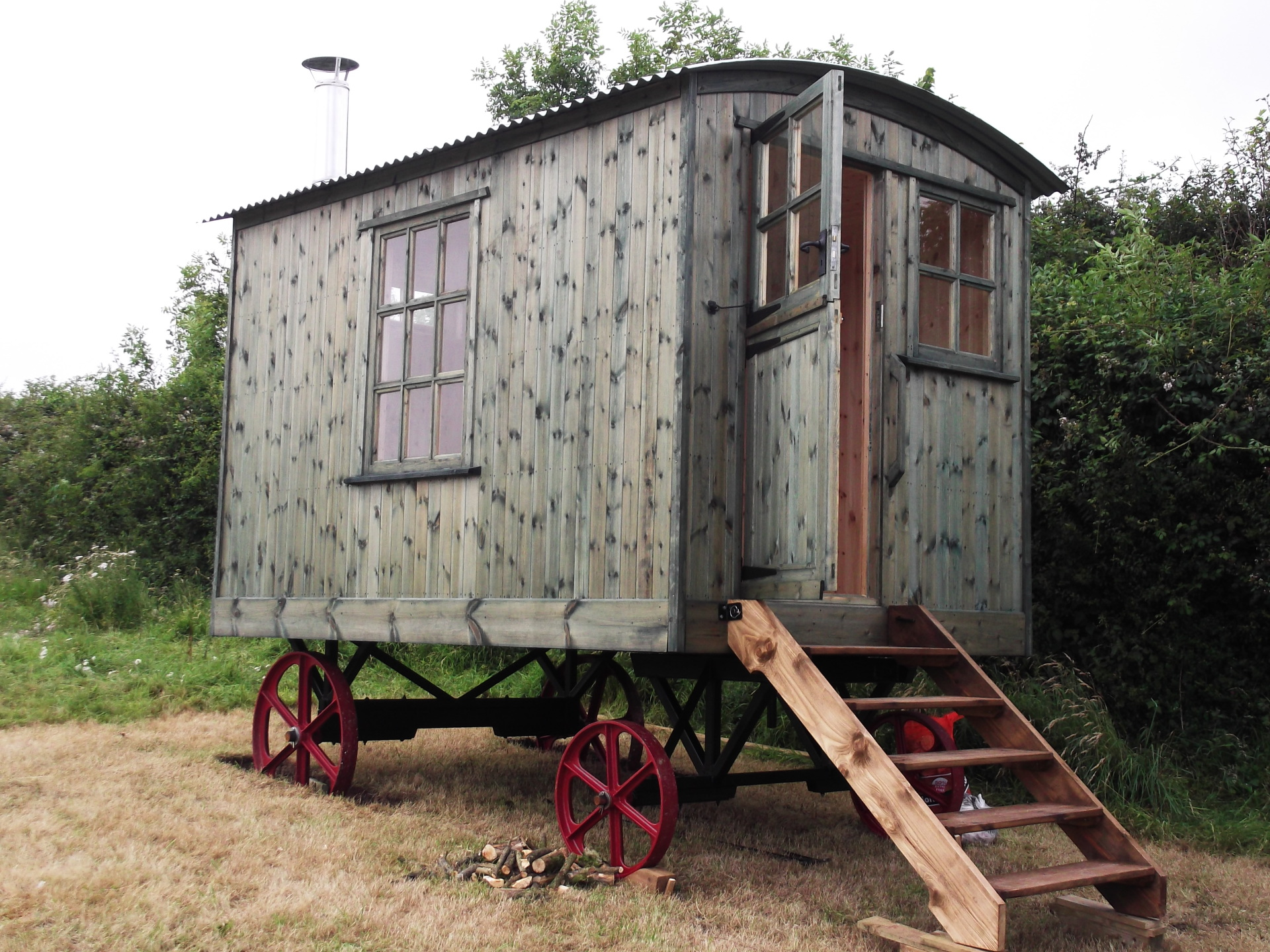 Shepherd hut, Devon.