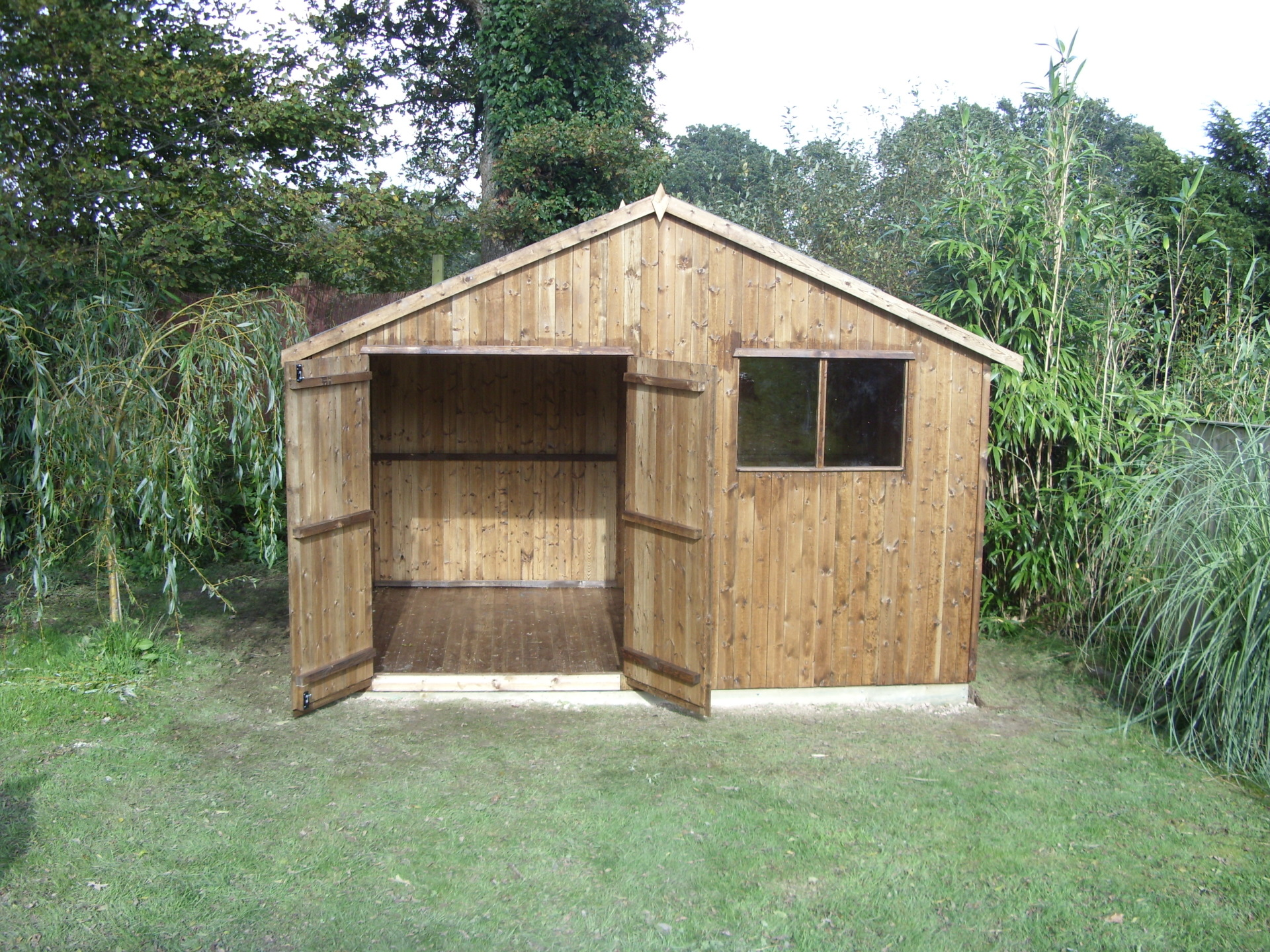 Garden Tractor Shed