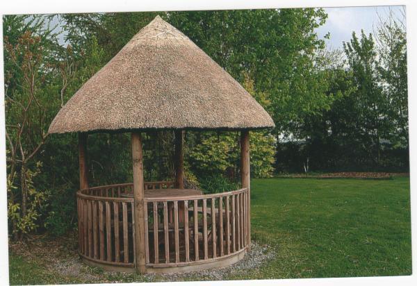 Thatched breeze hut