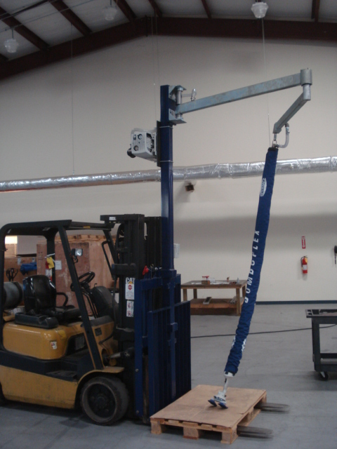 Articulating Jib Crane With Vacuum Manipulator