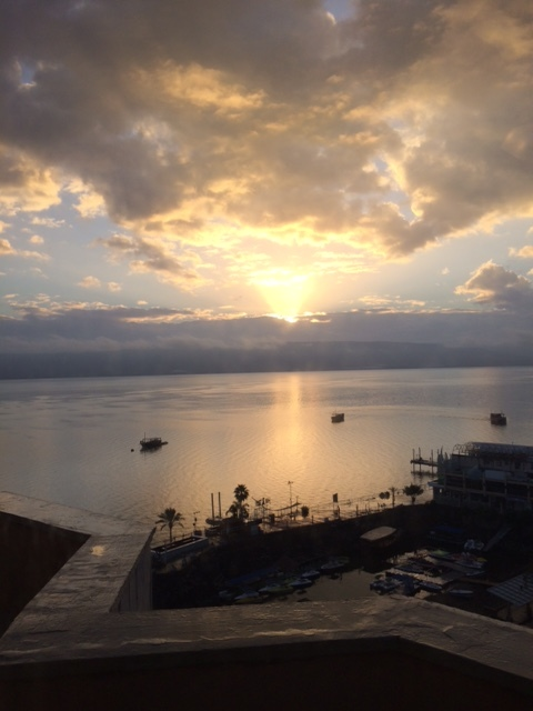 Sunrise On The Sea Of Galilee