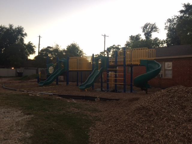 Our new playground is coming along nicely