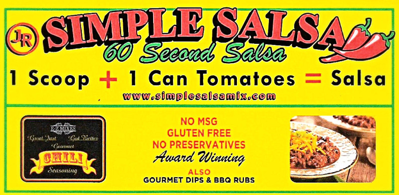 Quality fresh 60 second simple salsa in a snap.  MSG and GLUTEN FREE.  Worlds best salsa seasoning, great for taco meat, meatloaf, chicken, and pork