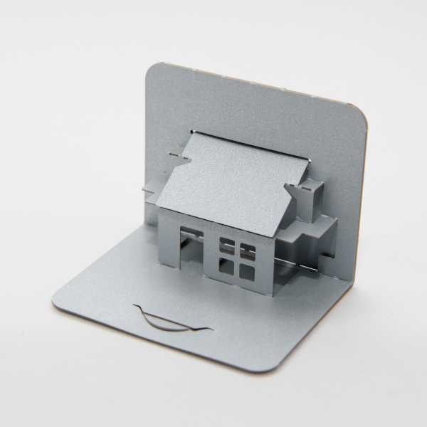 House with sloping roof 02 - FoldForm - business card