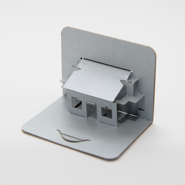 House with sloping roof 01 - FoldForm - business card