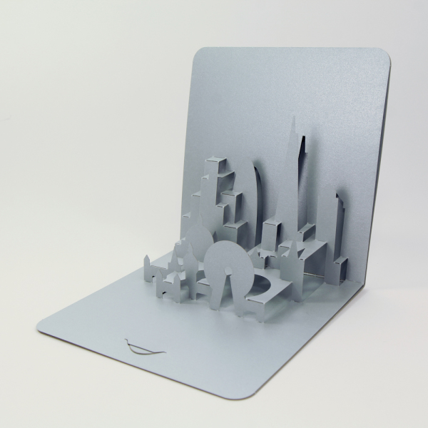 london skyline - Foldform - 3D popupp card