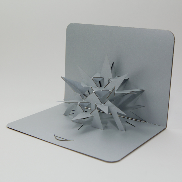 star - FoldForm - 3D popup card