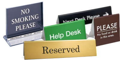 Table Top Signs