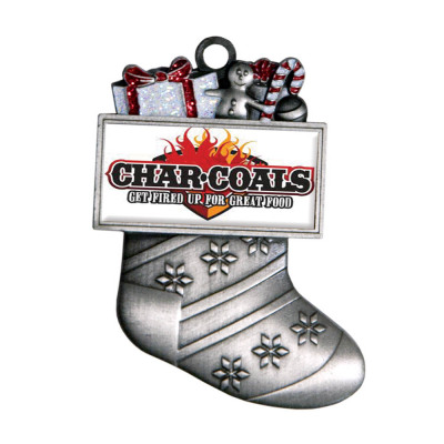 Antique Silver Stocking Ornament