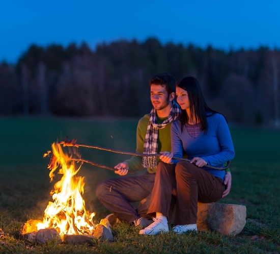 Image of couple camping