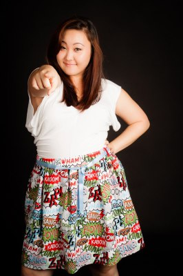 KAPOW! COMIC BASIC SKIRT