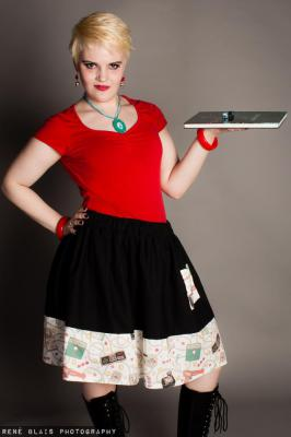 RETRO GAMING BOARDER SKIRT