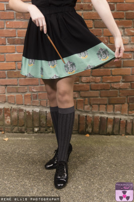 SLYTHERIN BOARDER SKIRT