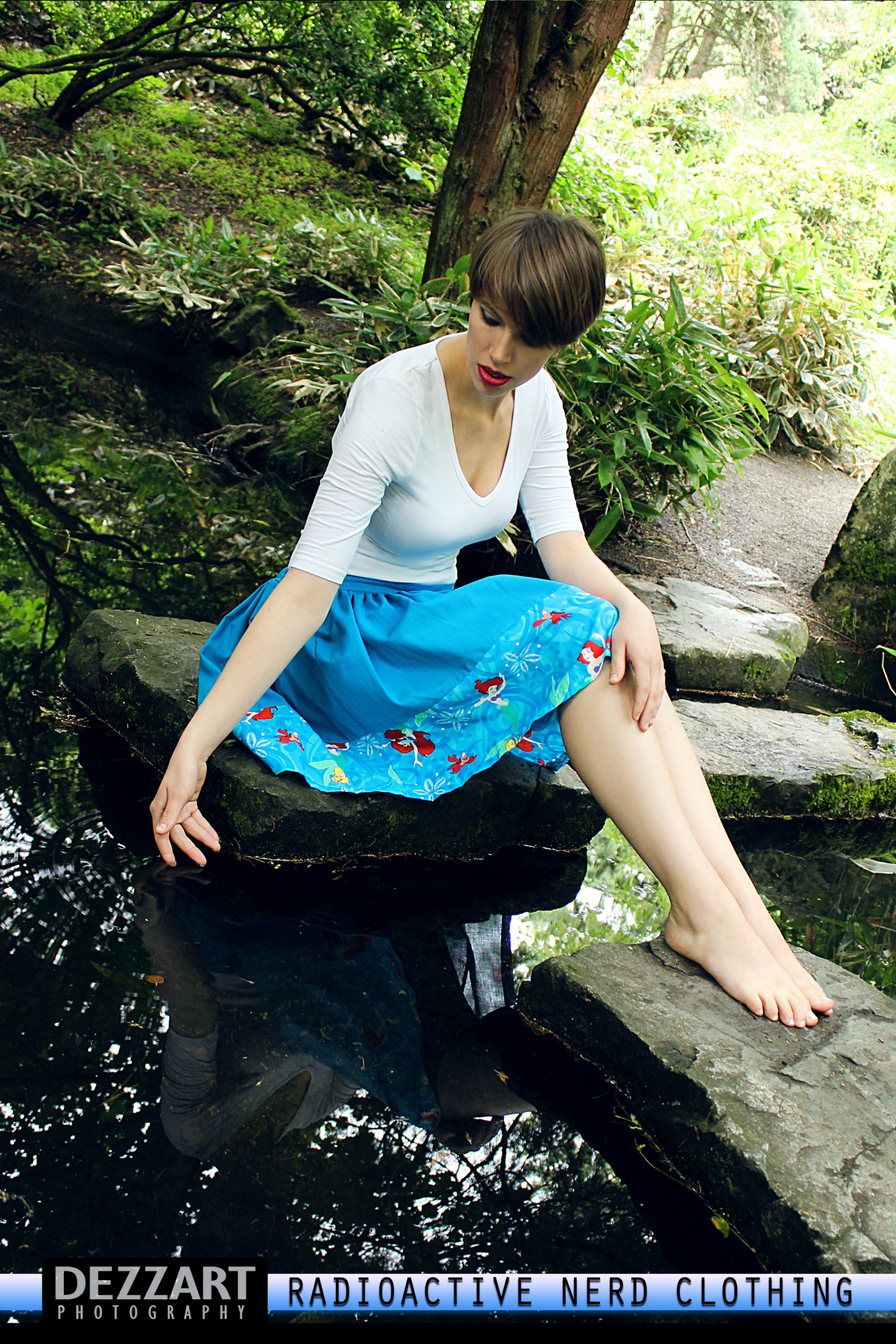 ARIEL BLUE BOARDER SKIRT