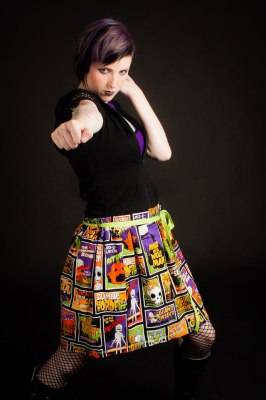 RETRO HORROR BASIC SKIRT