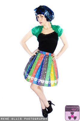 SAILOR STRIPES FULL SKIRT