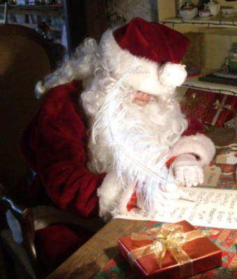 Father Christmas at Amberley Museum