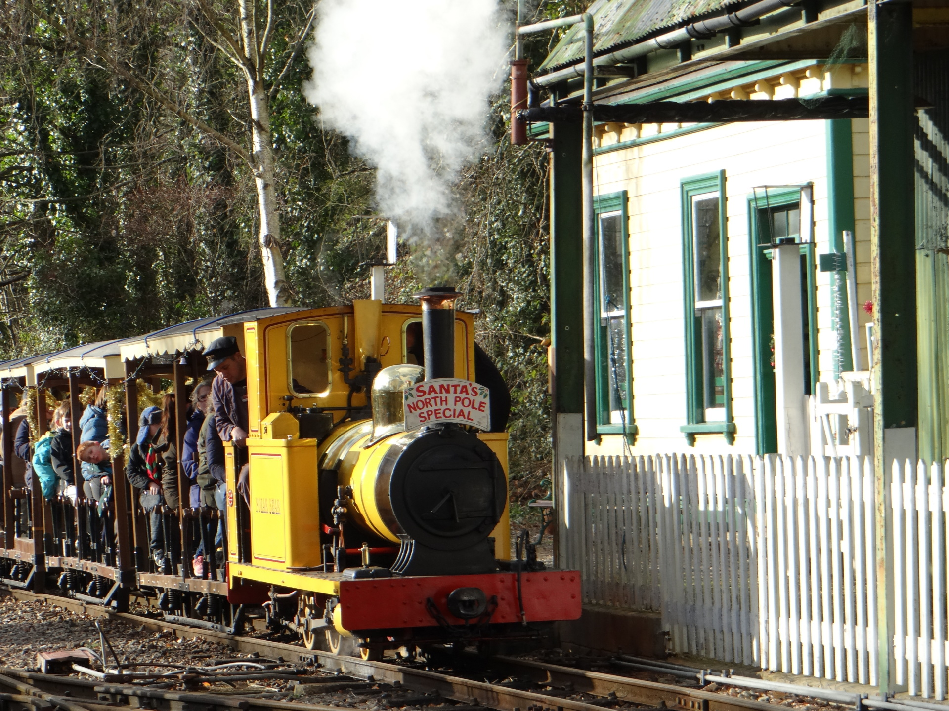 Christmas on the Steam train at Amberley Museum
