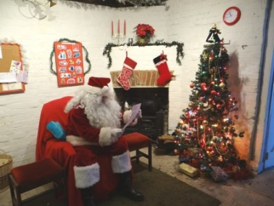 Father Christmas in his Grotto at Amberley Museum