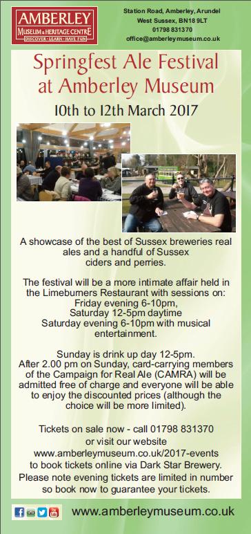 Springfest Ale Festival  - 10th to 12th March 2017