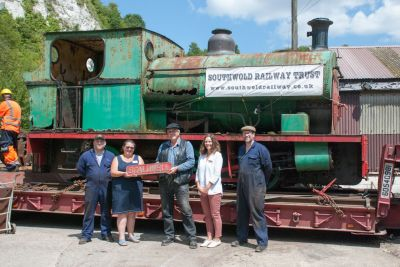 Scaldwell loco moving to Southwold