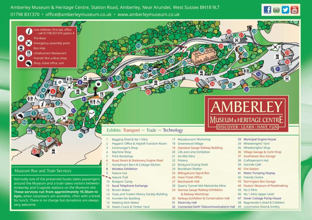 Amberley Museum Map