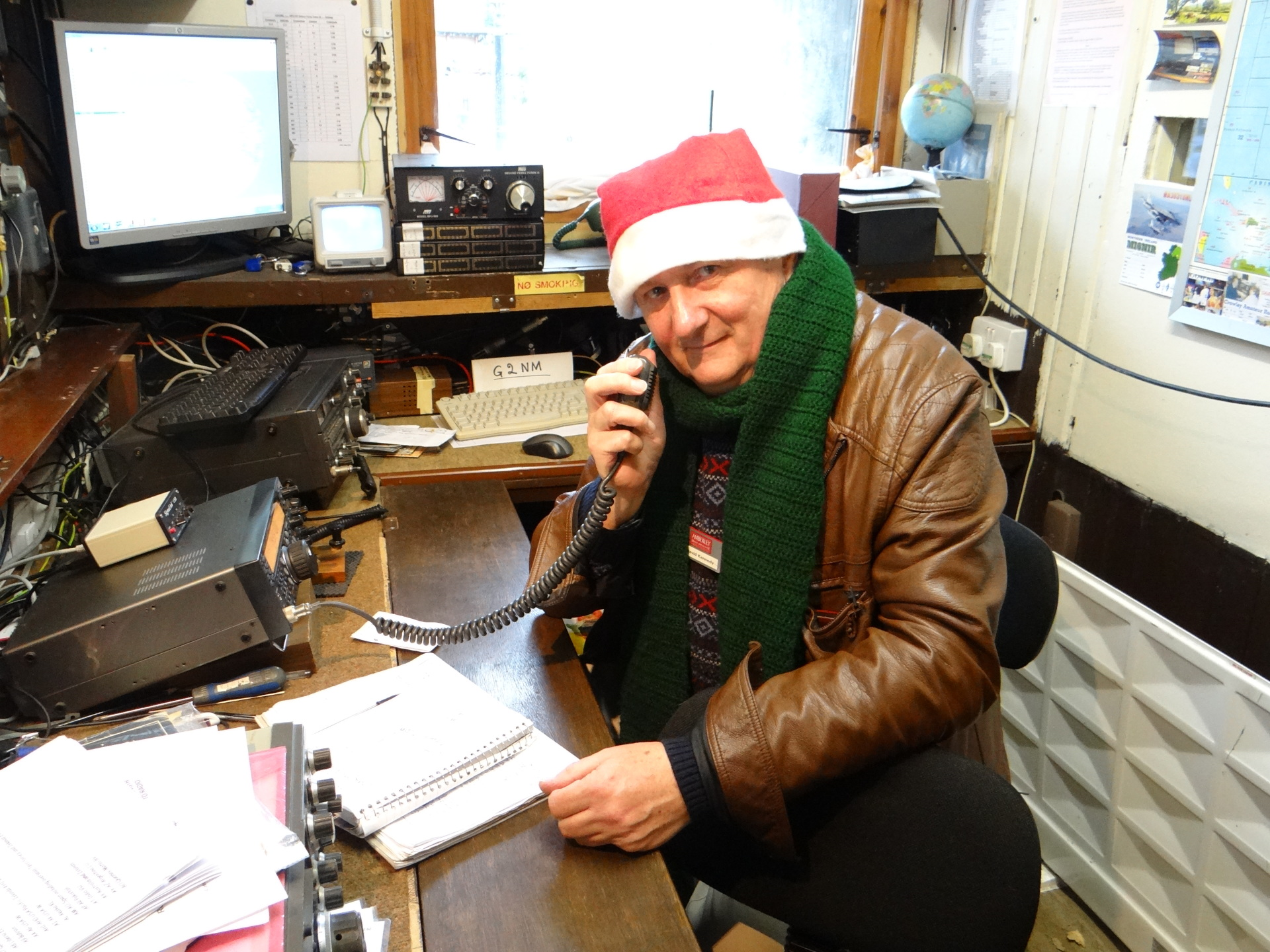 Excitement at the Museum as our amateur radio speaks to Santa Claus Radio