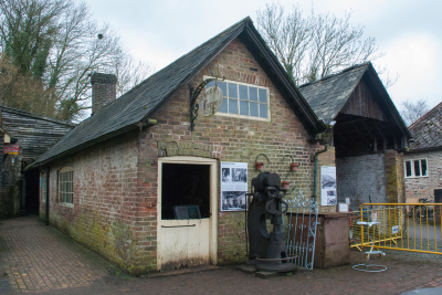 Restoration work on the Locoshed and Smithy buildings at Amberley Museum