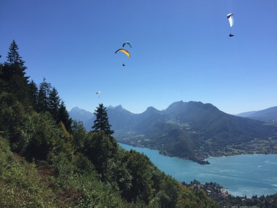 Italy and Annecy, Cycling and Paragliding
