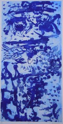 Ren-Tian 1, Sugar Lift Aquatint Etching 98 x 48cm, Framed, $1.600  Limited Edition 15