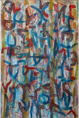 Alphabet 1,  180 x 122cm, Oil on Canvas, $6.600