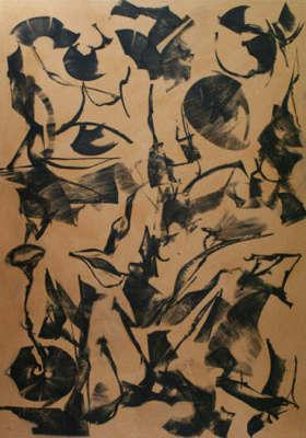 Lotus Dreaming 4, 180 x 120cm, Ink on Board, $3.300