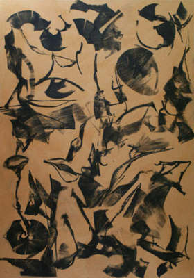Lotus Dreaming 4, 180 x 120cm, Ink on Board, $3.300