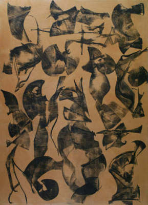 Lotus Dreaming 7, 180 x 120cm, Ink on Board, $3.300