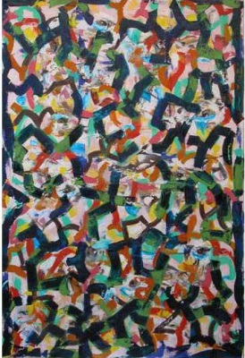 Matrix 4,  130 x 122cm, Oil on Canvas, $6.600
