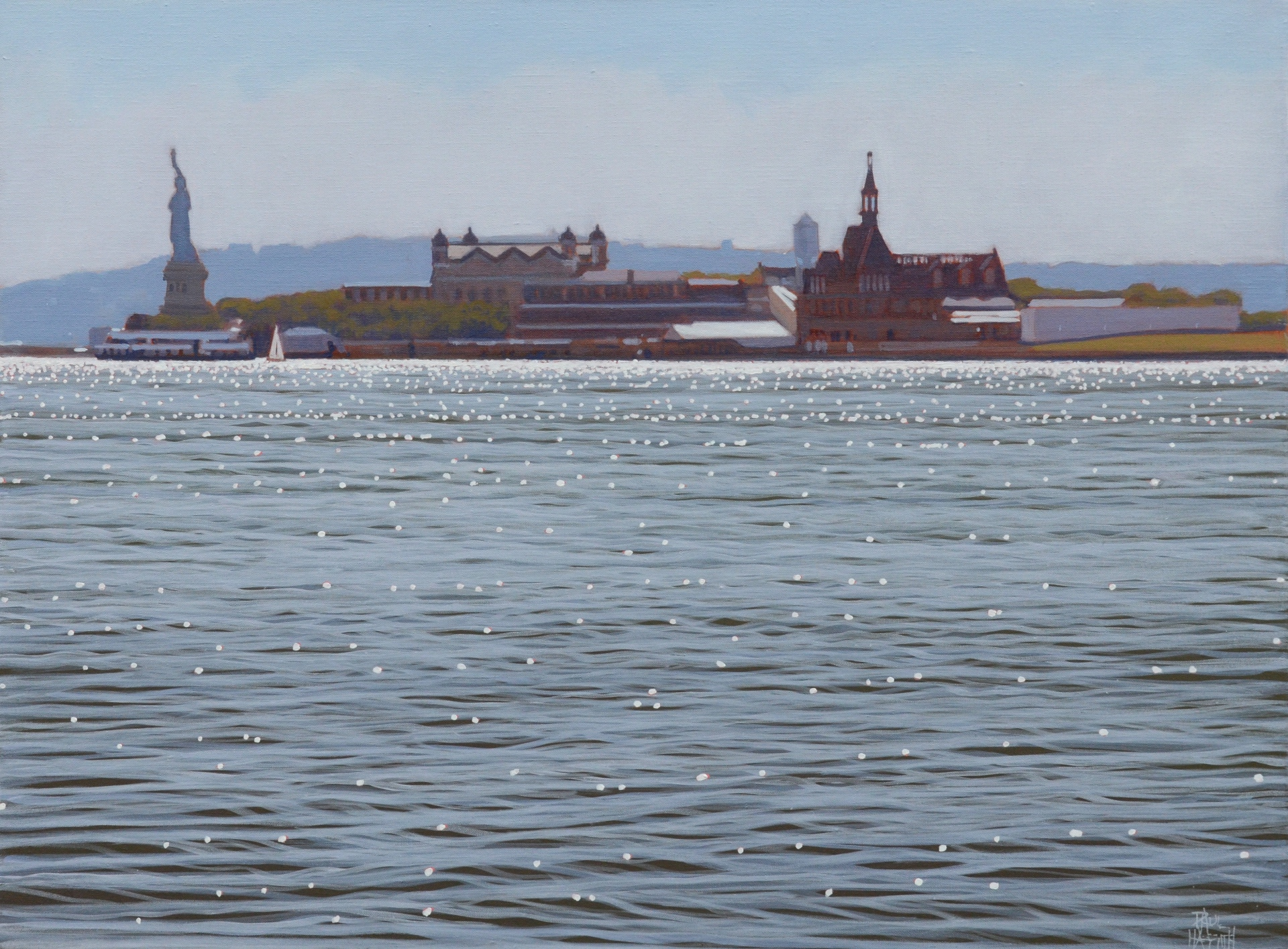 Hudson River No.1, oil on linen, 46 x 61cm,  $3.000 selected for Gosford Art Prize 2014