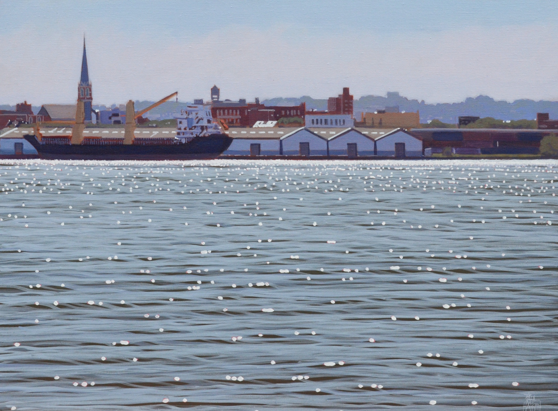 Hudson River No.2   45x60cm, oil on linen,