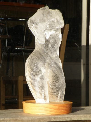 Sequelle, Laser cut laminated acrylic, Unique, Clear, H 50cm, $2.600