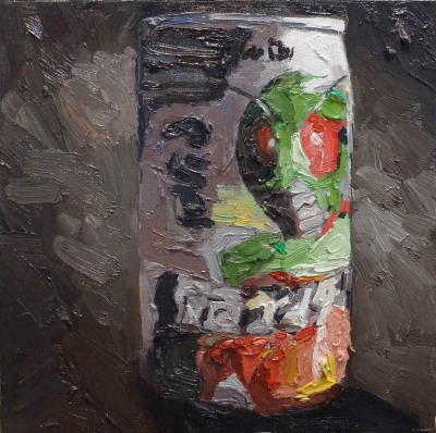 Bug Cola, Oil on Board, 34 x 34cm, $650