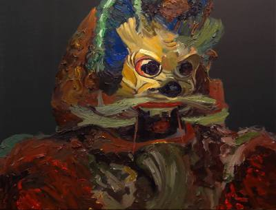 Mask, Oil on Canvas, 80 x 100cm, $1.800