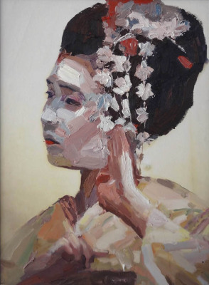 Maiko, Oil on Canvas, 65 x 88cm, $2.000