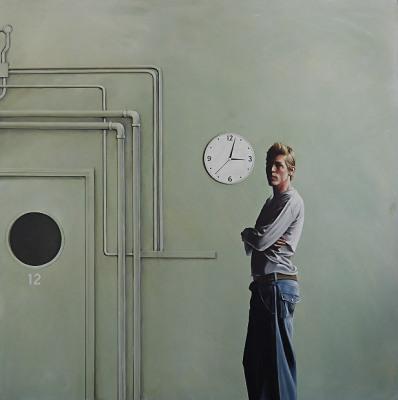 Behind Closed Doors, 2015, Acrylic on Canvas, 102 x 102cm, $5.500