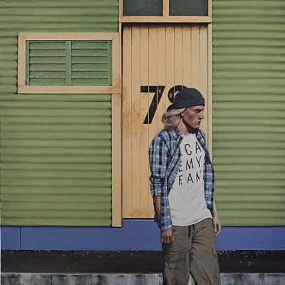 Cabin Boy, 2015, Acrylic on Canvas, 102 x 102cm, $4.500